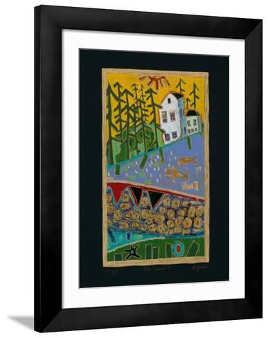 Fish Beach II - Black-Alison Goodwin-Framed Art Print