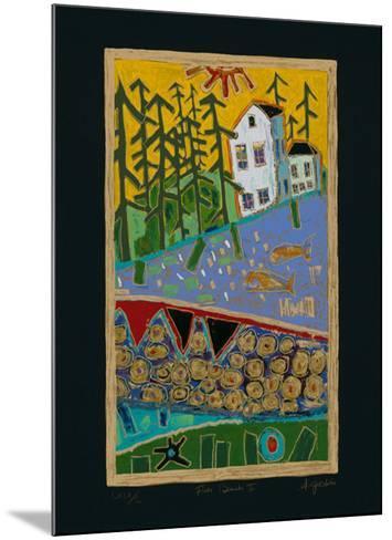 Fish Beach II - Black-Alison Goodwin-Mounted Limited Edition