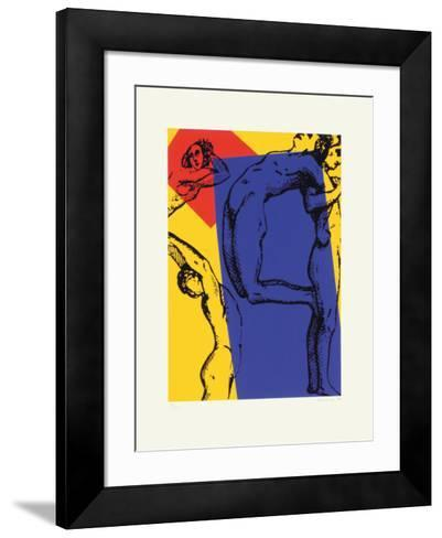No. 1, P Grand Rectangle Bleu-Jean Marie Haessle-Framed Art Print