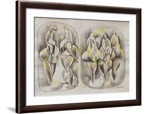 Etude de Femmes I-Raul Anguiano-Framed Art Print