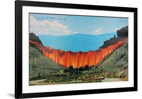 Valley Curtain 1970-1972 - Signed-Christo-Framed Art Print