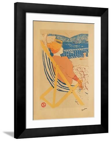La passag?re du 54 I-Henri de Toulouse-Lautrec-Framed Art Print