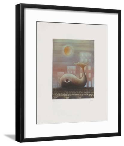 Sur le Pont-Moshe Malka-Framed Art Print