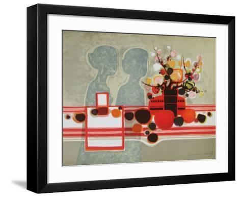Silhouettes et Bouquet-Fr?d?ric Menguy-Framed Art Print