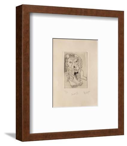 Miraut IV-Jean Messagier-Framed Art Print