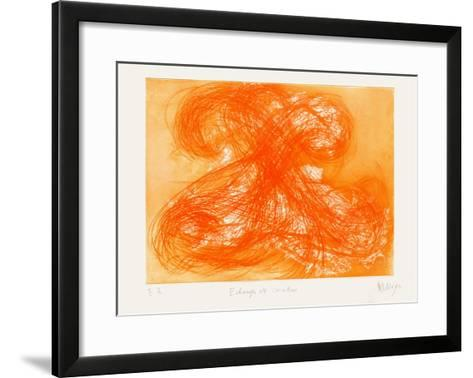 Echangeurs de Matin-Jean Messagier-Framed Art Print