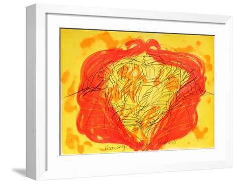 Hommage a Hercules Seghers-Jean Messagier-Framed Art Print