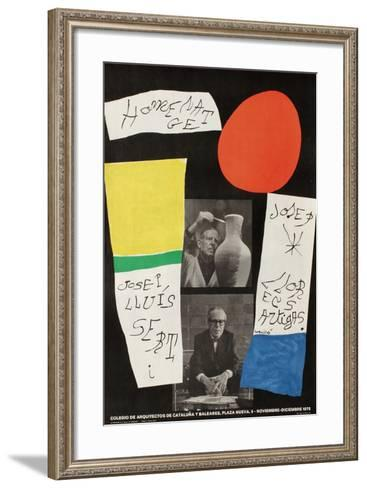 Hommage a Sert et Artigas-Joan Mir?-Framed Art Print