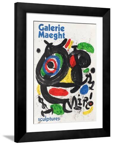 Galerie Maeght, Sculptures-Joan Mir?-Framed Art Print