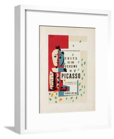 Com?die Humaine : Frontispice-Pablo Picasso-Framed Art Print