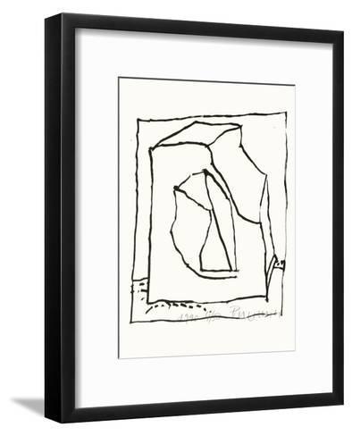 Composition 129-Jean-pierre Pincemin-Framed Art Print
