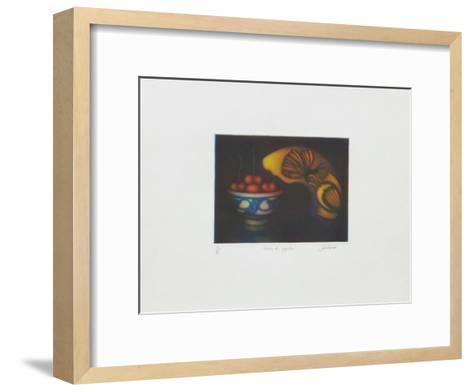 Cerises et papillon-Laurent Schkolnyk-Framed Art Print