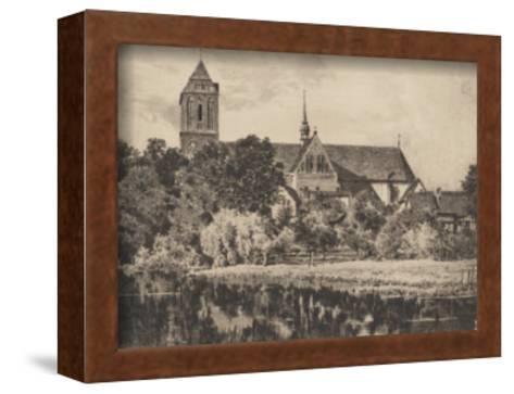 Guestrow - Dom-Bruck-Framed Art Print