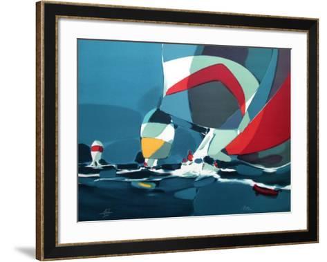 Regate II-Michel Bez-Framed Art Print