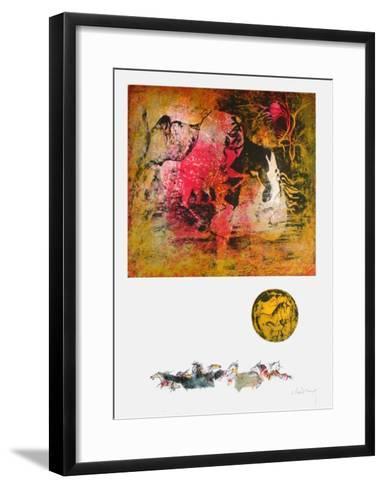Chevaux en Liberte IV-Lebadang-Framed Art Print