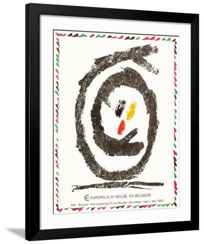 Expo Europalia 80-Pierre Alechinsky-Framed Art Print
