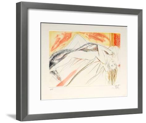P?ch?s capitaux : la paresse-Jean-Baptiste Valadie-Framed Art Print