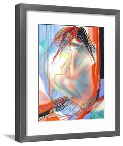 P?ch?s capitaux : la col?re-Jean-Baptiste Valadie-Framed Art Print