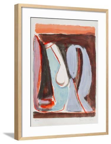 MP 071 Ailleurs brun-Bram van Velde-Framed Art Print