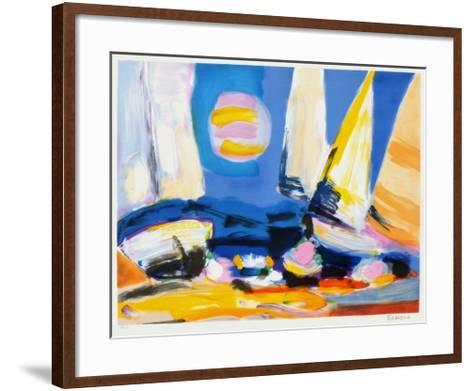 Regate III-Francois D'arguin-Framed Art Print