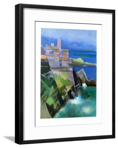 Cote d'Azur - Antibes-Camille Hilaire-Framed Art Print