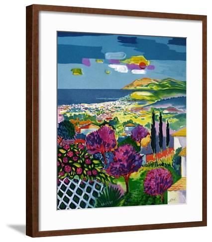 Les trois cypr?s-Jean-claude Picot-Framed Art Print