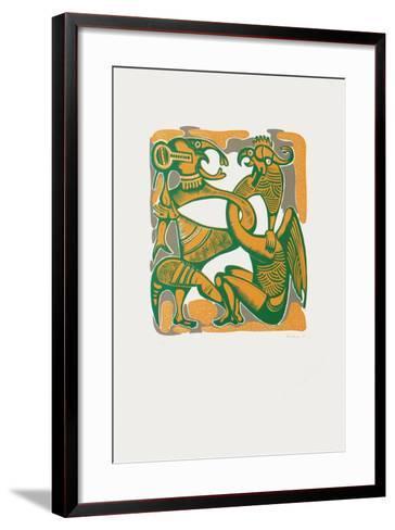 Personnages Surrealistes-Jules Perahim-Framed Art Print