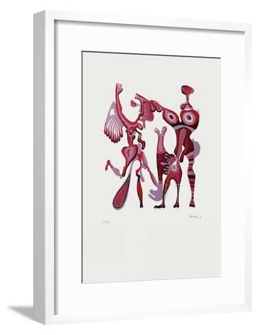 Composition Surrealiste I-Jules Perahim-Framed Art Print