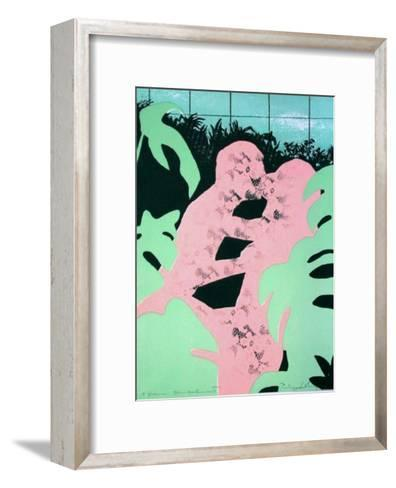 Couple dans la Serre II-Philippe Collage-Framed Art Print