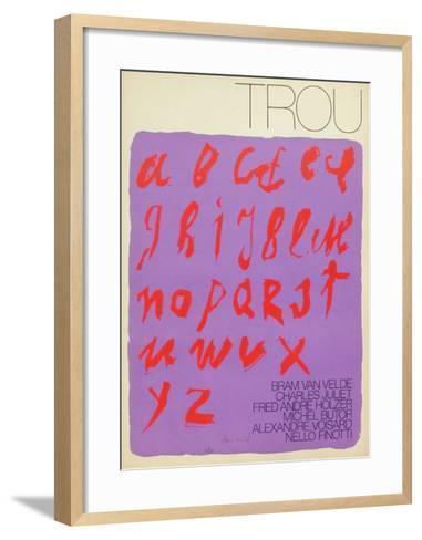 MP 388 Affiche pour la Revue Trou-Bram van Velde-Framed Art Print