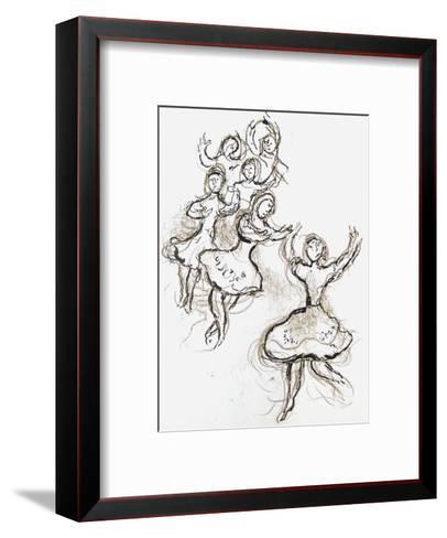 Plafond de l'Op?ra: le Lac des Cygnes-Marc Chagall-Framed Art Print