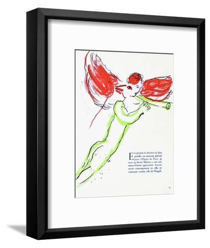 Plafond de l'Opéra: Lange Rouge-Marc Chagall-Framed Art Print