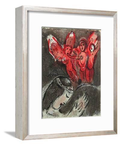 Bible: Sara et les Anges-Marc Chagall-Framed Art Print