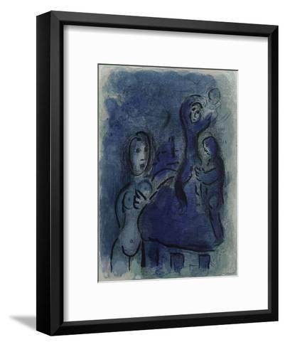 Bible: Rahab et les Espions de Jericho-Marc Chagall-Framed Art Print
