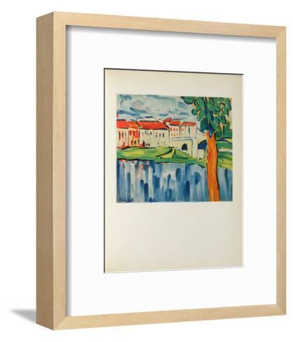 Le Pont de Chatou, 1906-Maurice De Vlaminck-Framed Art Print