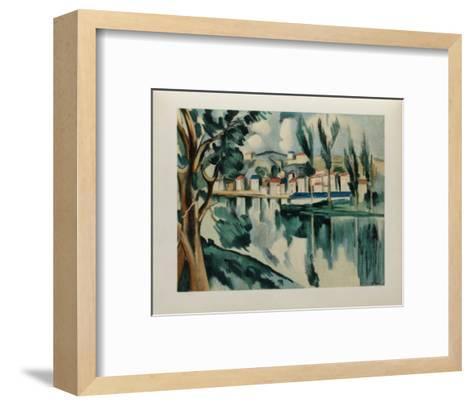 La Seine a Chatou, 1908-Maurice De Vlaminck-Framed Art Print