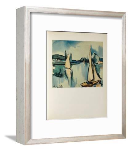 Voiliers Sur la Seine, 1908-Maurice De Vlaminck-Framed Art Print