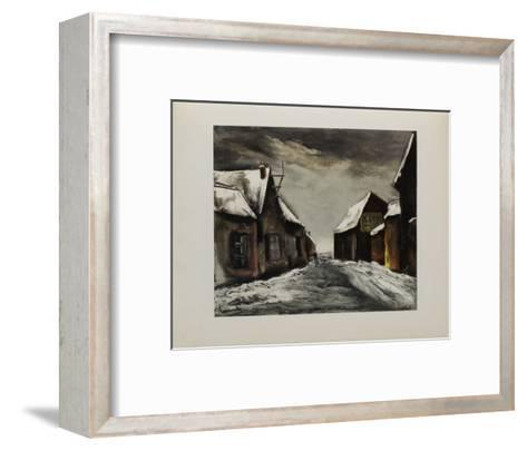 Allainville Sous la Neige, 1946-Maurice De Vlaminck-Framed Art Print