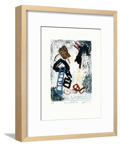 Auf der Himmelsleiter-Jan Tormi-Framed Art Print