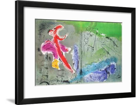 Vision de Paris-Marc Chagall-Framed Art Print