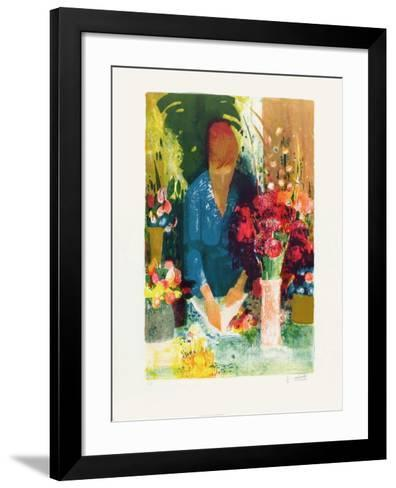 Marchande de Fleurs-Paul Collomb-Framed Art Print