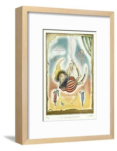 Ein Maerchenhafter Scherenschnitt-Rainer Hercks-Framed Art Print