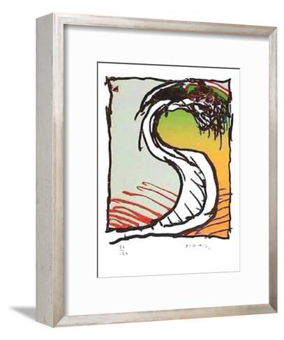 Genou dans la Robe-Pierre Alechinsky-Framed Art Print