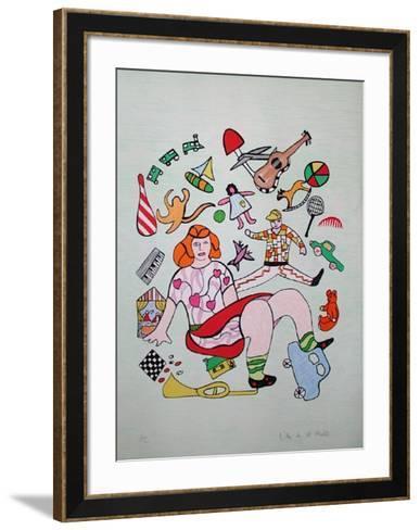 Mechant-Mechant - les Jouets-Niki De Saint Phalle-Framed Art Print
