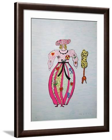 Mechant-Mechant - Femme et Mannequin-Niki De Saint Phalle-Framed Art Print