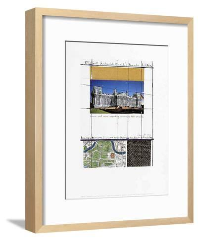 Wrapped Reichstag XIII-Christo-Framed Art Print