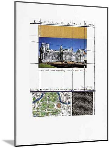 Wrapped Reichstag XIII-Christo-Mounted Art Print