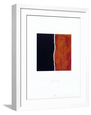 Zerrissen Schwarz-Juergen Freund-Framed Art Print