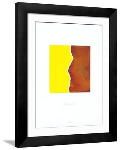 Zerrissen Gelb-Juergen Freund-Framed Art Print