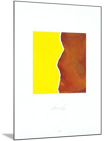 Zerrissen Gelb-Juergen Freund-Mounted Limited Edition